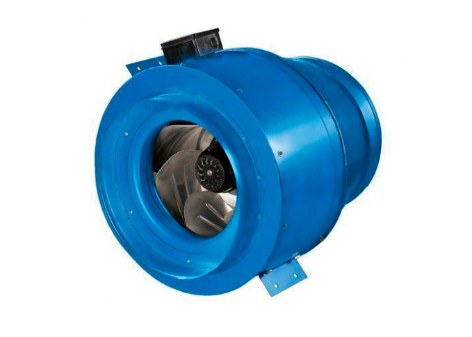 Круглый канальный вентилятор Вентс ВКМ 400 (220В/60Гц) (бурый короб)