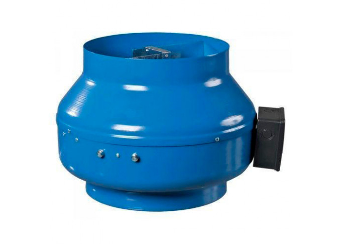 Круглый канальный вентилятор Вентс ВКМ 250 серый(бурый короб)