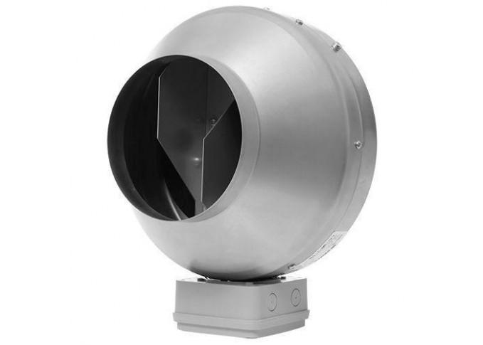 Круглый канальный вентилятор Вентс ВКМц 100 Б серый
