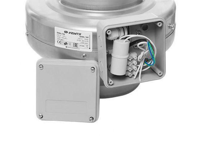 Круглый канальный вентилятор Вентс ВКМц 200 серый