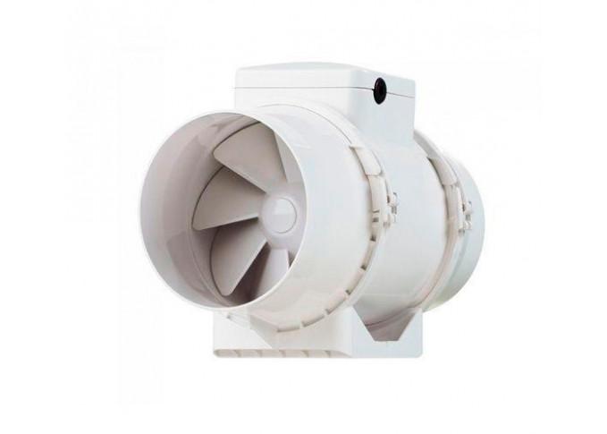 Круглий канальний вентилятор Вентс ТТ 125 Сіро-блакитний