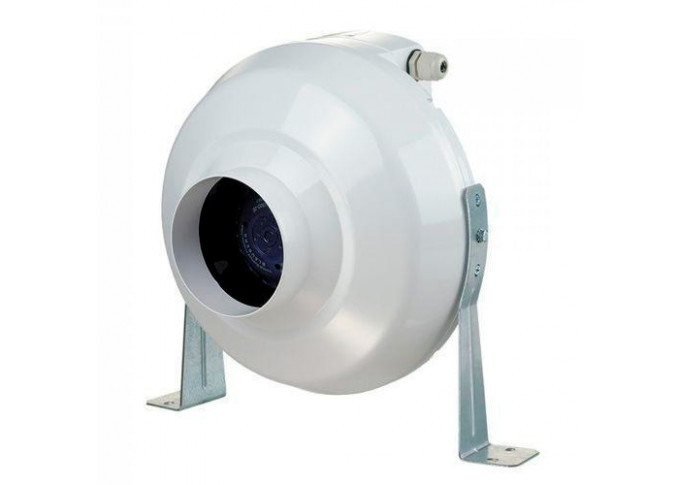 Круглий канальний вентилятор Вентс ВК 315 ун чорний (бурий короб)