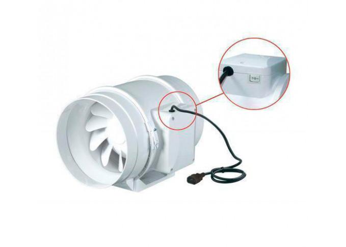 Круглий канальний вентилятор Вентс ТТ 100 РВ чорний