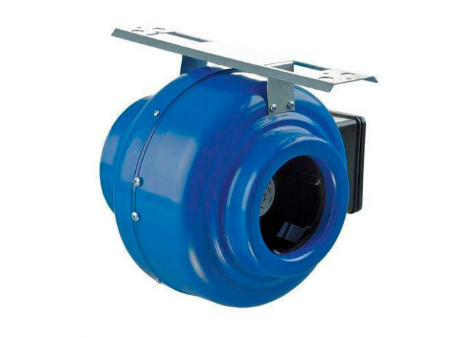 Круглий канальний вентилятор Вентс ВКМ 100 Б (бурий короб)