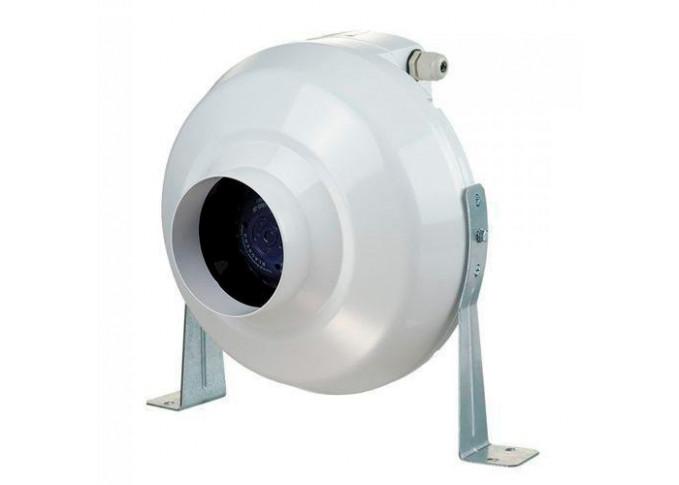Круглий канальний вентилятор Вентс ВК 200 Чорний (бурий короб)