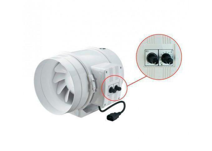 Круглий канальний вентилятор Вентс ТТ 125 у чорний