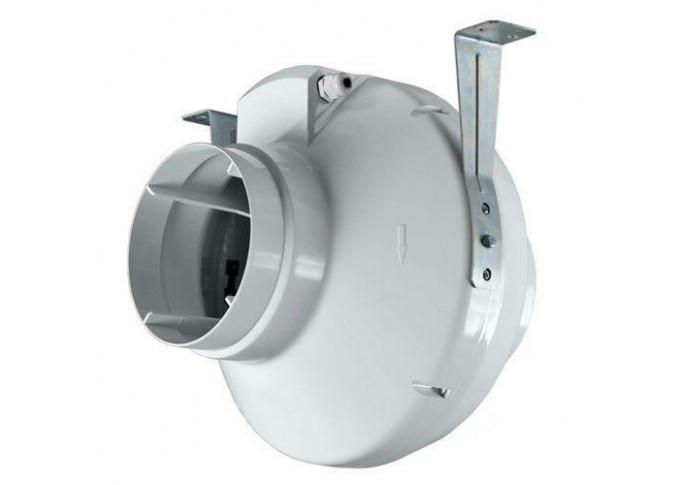 Круглий канальний вентилятор Вентс ВК 125 чорний (бурий короб)