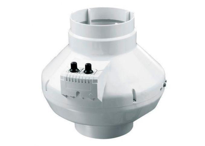 Круглий канальний вентилятор Вентс ВК 125 б Сіро-блакитний (бурий короб)