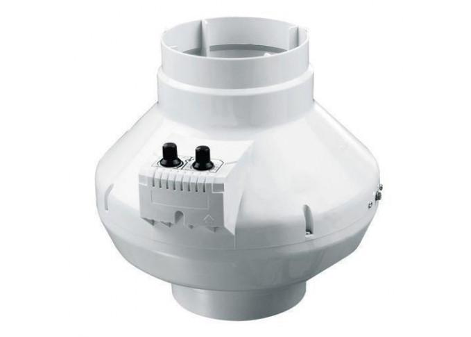 Круглий канальний вентилятор Вентс ВК 125 б Чорний (бурий короб)