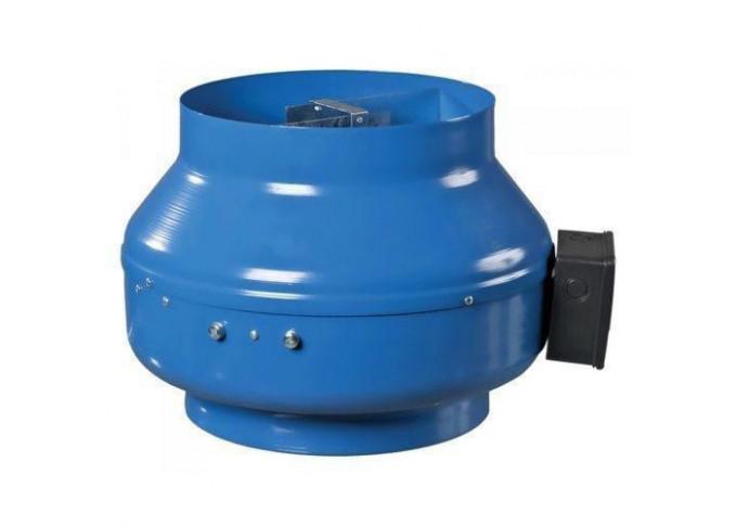 Круглый канальный вентилятор Вентс ВКМ 200 Р (бурый короб)