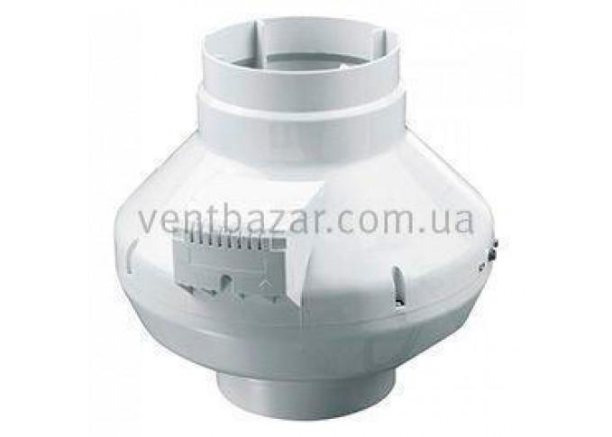 Круглий канальний вентилятор Вентс ВКС 200 Чорний (бурий короб)